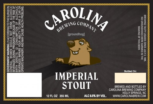 carolina brewing groundhog imperial stout